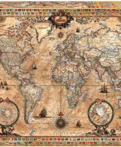 จิ๊กซอว์ 1000 ชิ้น Antique World Map educ 3