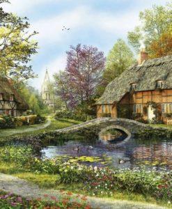 จิ๊กซอว์ 5000 ชิ้น Meadow Cottages