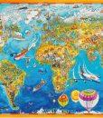 จิ๊กซอว์ 1000 ชิ้น comic world map