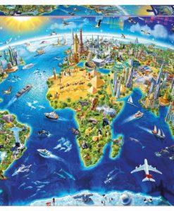 จิ๊กซอว์ 2000 ชิ้น World Landmarks Globe
