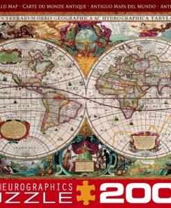 จิ๊กซอว์ 2000 ชิ้น Antique Map of The World