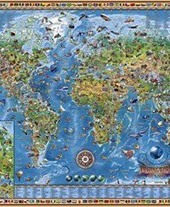 จิ๊กซอว์ 3000 ชิ้น แผนที่โลก