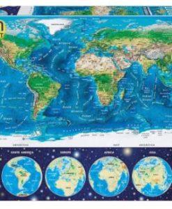 จิ๊กซอว์ 1000 ชิ้น Neon World Map